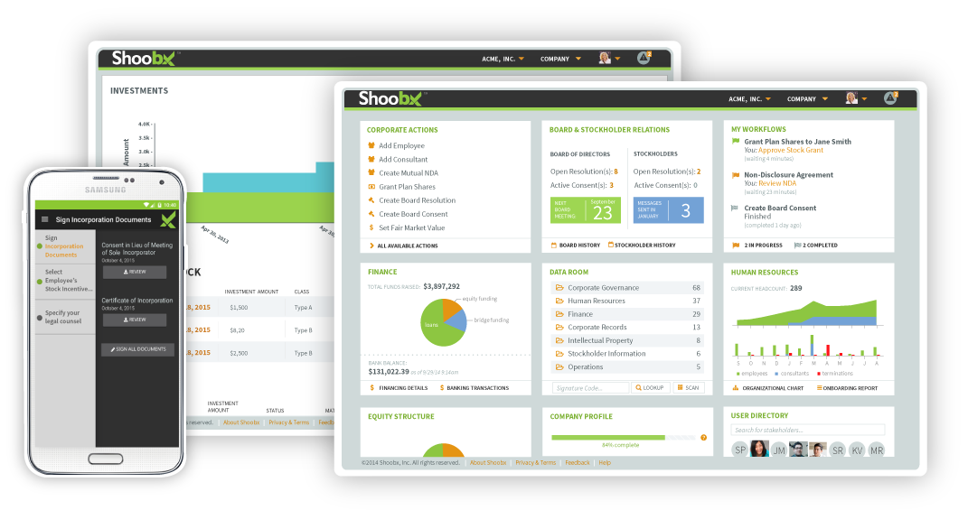 Shoobx Dashboards