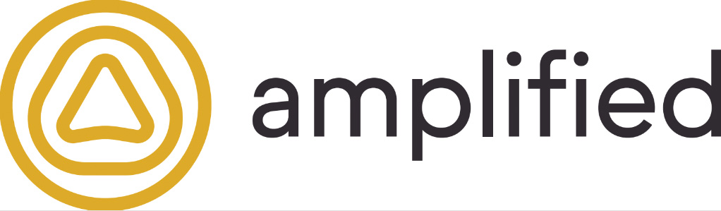 amplified logo with link to website